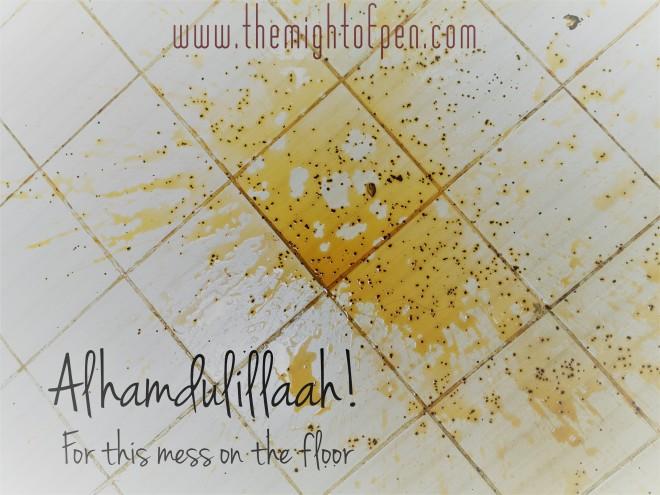 tea on floor